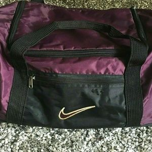 "Vintage 90s Nike Duffle Gym Bag 17"" Black"